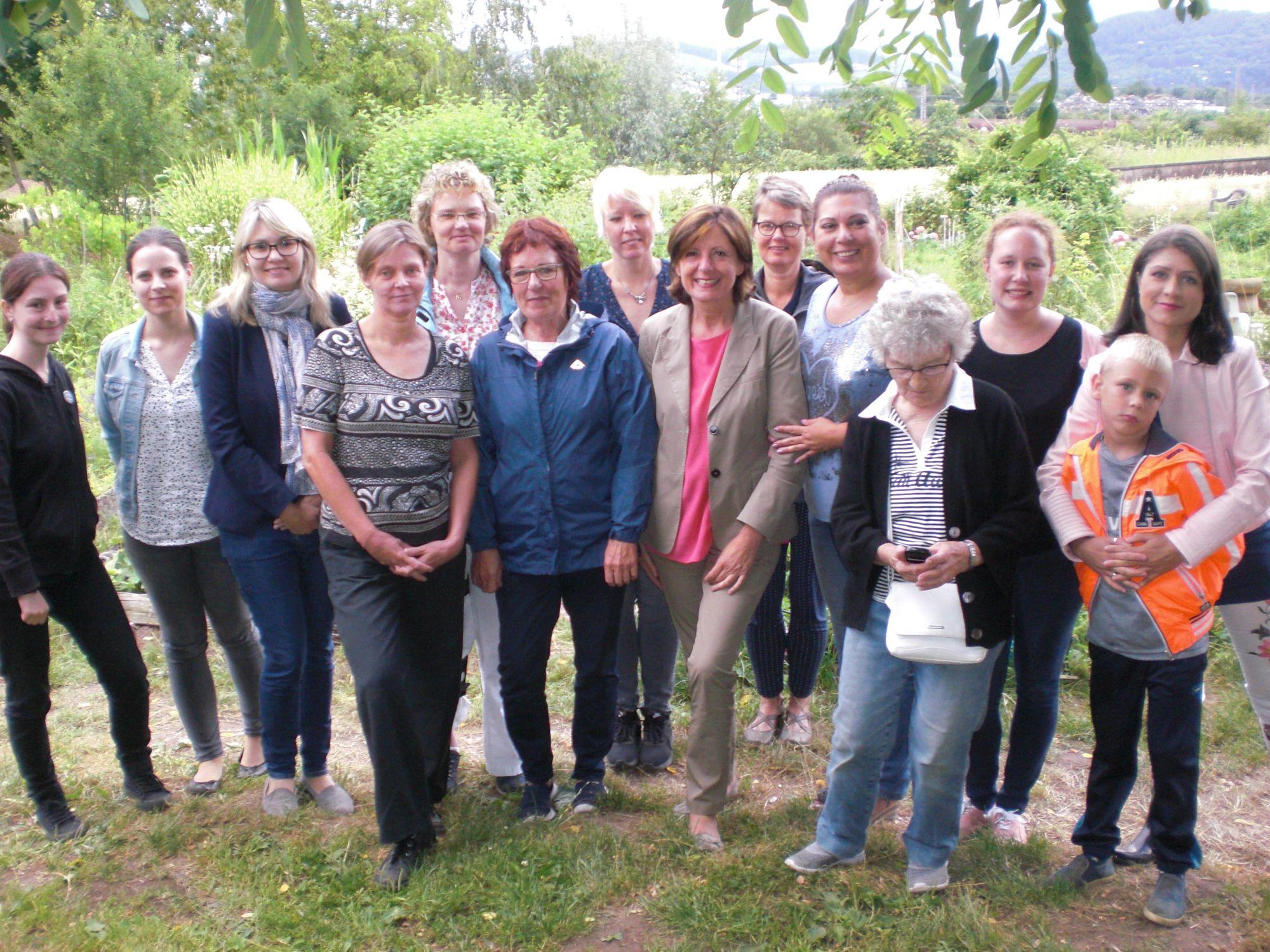 Der Frauengarten bekam Besuch von Frau Malu Dreyer